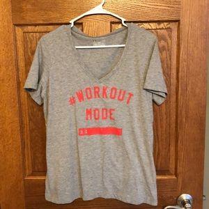 Under Armour #Workout Mode Tee EUC
